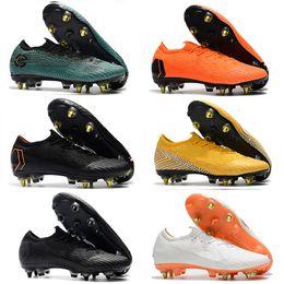 Fußballschuhe preise online-2019 neue Mens Soccer Cleats Outdoor Schuhe Stahl Nagel Schuhe Mercurial Superfly VI Elite SG AC Preis Großhandel