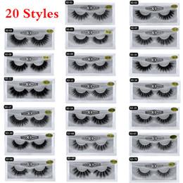 tiras de cabelo sintético Desconto 20 Estilos 3D Mink cílios dos olhos maquiagem Mink cílios falsos Macio Natural Grosso Falso Cílios 3D Lashes Eye Beauty Extensão Ferramentas