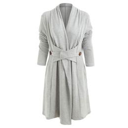 Polveri di cotone online-Cappotto casual in cashmere con collo alto in stile moderno con bottoni in cotone sintetico