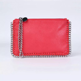 Bolsas stella on-line-FRETE GRÁTIS! Famosa marca stella mccartney mulheres PVC bolsa saco de telefone celular sacos de moda estilo size18 * 12 wich goldsilver cadeia