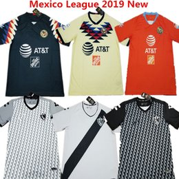 d0c2a7a0948 Soccer Jersey America Home Yellow Cruz Azul camisas de futbol C.DOMINGUEZ  R.SAMBUEZA P.AGUILAR 2019 Mexico Chivas Club Green Football Shirts