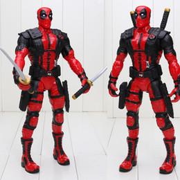 celos de plástico berço Desconto 33 cm Herói Mutantes Anti-hero Deadpool Wade Winston Wilson Arma X Deadpool Pvc Action Figure Collectible Modelo Toy J190508