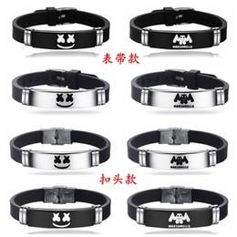 2019 idées de bracelet Bracelet DJ Marshmello Idée Créative Bracelets Spun Sugar Electro Acoustique Inoxydable Noir Gel De Silice Ajuster Bracelet Vente Chaude 5xm p1 idées de bracelet pas cher