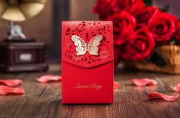 """Caja de dulces día dulce online-La boda favorece las cajas de regalo rojo """"Sweet Day"""" favores de la boda caja de dulces de chocolate con los regalos del partido de la mariposa"""