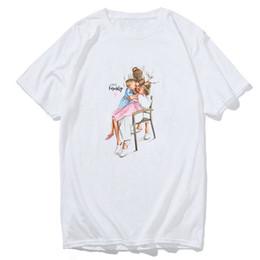 2019 couple famille t shirts Le T-shirt de l'amour de famille Le papa blanc de maman T-shirt apparié t-shirts Harajuku Top Couple Vêtements Cadeau d'amie Tshirt harajuku streetwear promotion couple famille t shirts
