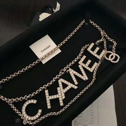 Argentina Nueva costumbre de diamante de latón clásico de la letra de la cintura cadena de vacaciones vestido de regalo de cumpleaños Suministro