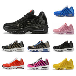 Cojines rosa baratos online-Nike air max 95 Heron Preston shoes Zapatos para negro rojo azul criado blanco amarillo rosa Cojín hombres mujeres Moda Zapatillas deportivas baratas Zapatillas deportivas 36-45