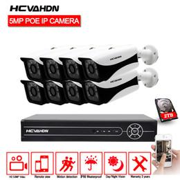 caméra cctv étanche vision nocturne Promotion HCVAHDN 8CH CCTV Kit Caméra HD 5MP PoE IP Caméra Étanche Extérieure Vision Nocturne Système de Surveillance Vidéo HDMI Et VGA