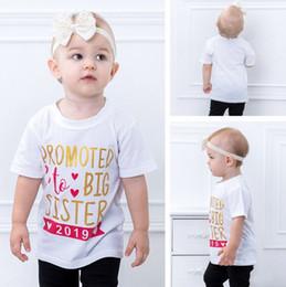 2019 camisas de hermana mayor Camisas de bebés promocionadas a Big Sister Letra niños impresos Camiseta de manga corta Camisetas para bebés INS Ropa para niños Ropa de verano para niños YW2225 camisas de hermana mayor baratos
