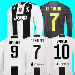 b3dca6162 ronaldo jersey orange Coupons - New 2019  7 RONALDO JUVENTUS HOME Long  sleeve Soccer Jerseys