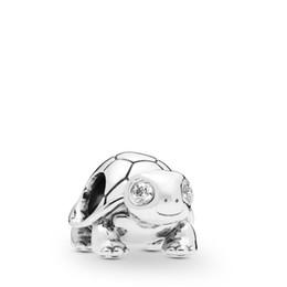 2019 Spring 925 Sterling Silver Bright-Eyed Turtle Charm Bead Para las pulseras europeas del encanto de Pandora Jewelry desde fabricantes