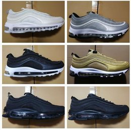 043679bb92e Top Quality 97 Og Qs Silver Bullet Casual Shoes Cheap 98 Gold LX Powerwall  Breathable Maxes Cushion Trainers 40-46