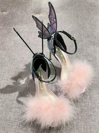 Ali angeliche colorate online-Sophia Webster Fur sandali tacco alto Angelo Ala Farfalla Gladiators variopinto della signora Pumps