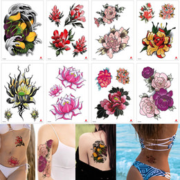 fdd488f62 Shop Decal Temporary Tattoo Flowers UK | Decal Temporary Tattoo Flowers  free delivery to UK | Dhgate UK