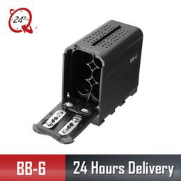 moniteur vidéo led Promotion BB-6 6pcs AA Batterie Case Pack Titulaire de la batterie Puissance comme NP-F Série NP-970 pour LED Light Panel / Monitor yongnuo