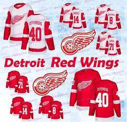 Detroit Red Wings jerseys 71 Dylan Larkin 9 Gordie Howe Gustav Nyquist Justin  Abdelkader Henrik Zetterberg Steve Yzerman hockey jerseys henrik zetterberg  ... 2a85da671