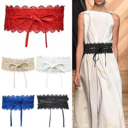 décoration de ceinture de mariage Promotion Mode large Corset dentelle ceinture à nouer Waistband Ceintures pour Robe Lady mariage taille Décoration