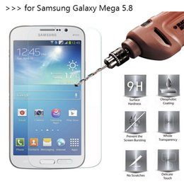 Protectores de pantalla s2 online-Para Samsung Glaxy Mega 5.8 I9152 I9150 Mega 2 G750F Protector de pantalla de cristal templado Película de edición 0.33mm 2.5D 9H Antivibraciones sin paquete