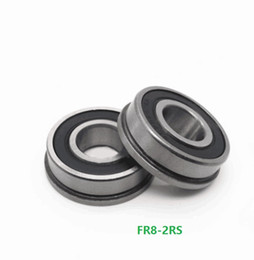 """25pcs FR6-2RS 3//8/"""" x 7//8/"""" x 9//32/"""" Flanged Metal Rubber Sealed Ball Bearings"""