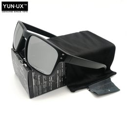 armas de marca Rebajas Sofisticados MARCA de la moda gafas de sol polarizadas Tecnología para el marco de los vidrios de Sun de los hombres YO92-44 Negro pistola Logo lente de plata envío