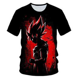 anime tshirts Rabatt Ultra-Dragon Ball Instinct Super Saiyan T-Shirt Mann-Sommer-Dragon Ball Z T-Shirts Lustige Anime seltsamere Dinge Kid Goku 3d T-Shirt