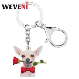 WEVENI Acrylic Funny Pink Coffee Cup Key Chain Keychains Fashion Novelty Jewelry For Women Girls Teens Gift Bag Car Decoration