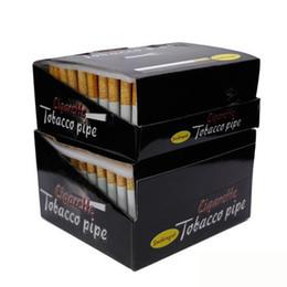 tubo in metallo Sconti 55mm 78mm lunghezza forma di sigaretta in lega di alluminio tubi per fumatori tubi in metallo 100 pz / scatola one battitore pipa fumo tubo di tabacco