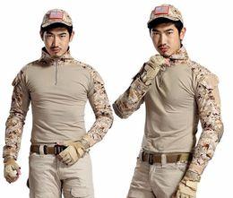 Armée camo en Ligne-Tactical Gear Army Camouflage Uniforme Extérieur Chemise Camo Multicam Paintball Randonnée Vêtements + Genouillères
