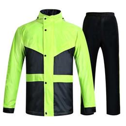 Motocicleta equitación trajes hombres online-Adulto Pantalones de lluvia Traje Hombres Mujeres Vehículo eléctrico Para llevar Moto Comida Montar A pie Cuerpo entero Impermeable poncho para niños # 319600