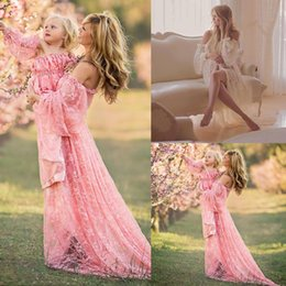 6fb577421e925 Maternity Photography Props Pregnancy Fancy Dress Lace Robe Strapless Maxi  Gown Maternity Dress Split Front Women Long Dress