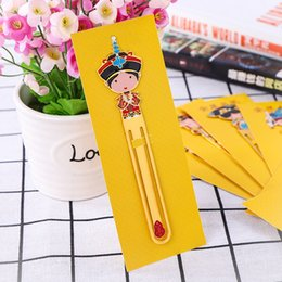 2019 детская игрушка Творческие латунные закладки для китайского ветра дворец мультипликационных персонажей Customized Выпечка Краска Hollow Металл Мемориал Закладка Правитель