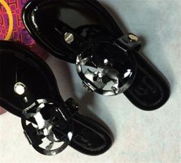 2019 spitze schwarze peep toe flats NEUE Designer Sandalen Tory Klassische Komfortable Flip Flops Multi Color Best Selling Girl Slides Kostenloser Versand Womens Dia Fahion Größe 35-43