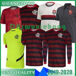 Camiseta flamenca 2019 2020 19 20 Flamenco GABRIEL B DIEGO VINICIUS JR Camisetas de fútbol Flamengo casa rojo negro deportes camiseta de fútbol de Brasil AWAY desde fabricantes