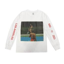KANYE WEST SAINT PABLO Long Sleeve T-shirt Crewneck Pullover Street Hip Hop  Sweatshirt Young Men Women Casual Tee Sweater HFYMWY205 0dcbb8b5b