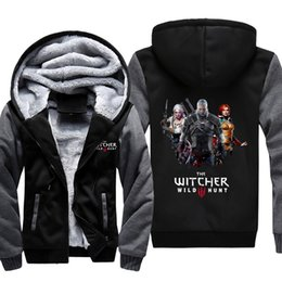 2fdb1e82d03af warm hunting clothes 2019 - The Witcher Wild Hunt Sweatshirt Men Women  Zipper Hoodies Hooded Harajuku