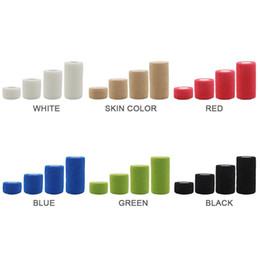 2019 pulseiras de algodão preto A atadura elástica autoadesiva da tela não tecida da cor da atadura da proteção dos esportes deve ser incisão uniforme da cor pura