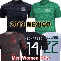 México futebol jérseis preto on-line-2019 México Taça De Ouro camisas de futebol Preto CHICHARITO LOZANO MARQUEZ DOS SANTOS 19 20 HOMENS MULHERES CRIANÇAS 2020 soccer jersey football shirts Verde camisetas de futbol