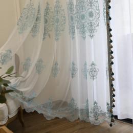 Gardinen Wohnzimmer, personalisierte Muster Gardinen Schlafzimmer Fenster  Behandlung Vorhänge blau