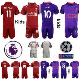18 19 Youth SALAH Jersey Soccer FC Kids 10 MANE 9 FIRMINO 14 HENDERSON 3  FABINHO Football Shirt Kits Children Uniform fe5e8c4a9
