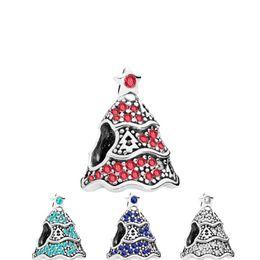 2019 argento albero di natale ciondolo grande foro branelli allentati pandora braccialetto gioielli fai da te ciondolo europeo collana di perline braccialetto accessorie da