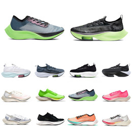zoom scarpe Sconti Stock X Nike ZoomX  Alphafly Lime Blast zoom VaporFly NEXT% Mens Running shoes Ekiden Valerian Blue Ribbon Sail pink Men Women Sports Designer sneakers 36-45