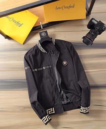 Marcas de chaqueta italiana online-2019 hip hop Marca medusa diseñador italiano hombres de la chaqueta de la calidad estupenda informal imprimir cartas del patrón liberan la chaqueta de los hombres