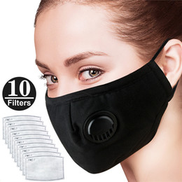 Filters Women Anti-dust With Allergies Smoke And Flu Protection Gas Black N95 Man Masks 10 For Reusable Adjustable