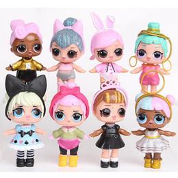super robot de deformação Desconto 9 CM LoL Dolls com mamadeira PVC Americano Kawaii Crianças Brinquedos Anime Figuras de Ação Realistas Bonecas Reborn para meninas 8 Pçs / lote crianças brinquedos