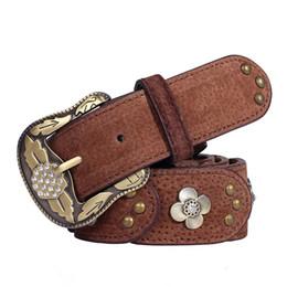 патч для алмазной кожи Скидка Vintage Diamond Retro Ladies Leather Belt Women Patch Antique Belt Korean Version Ceinture Femme New Hot Belts for Women