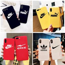 Mode Populaire Marque Designer Téléphone Cas Pour iPhone Xr Xs MAX 6 7 8 Plus Cas Silicone Soft Téléphone Cas Couverture ? partir de fabricateur