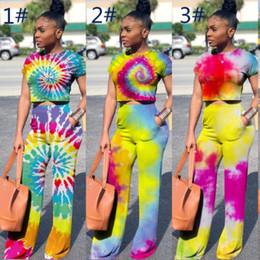 0004f63f8b33d Bayan eşofman 2 parça kadın set Renkli çizim veya desen takım elbise rahat  yaz elbise kazak gevşek pantolon takım elbise klw1273 cheap suit drawing