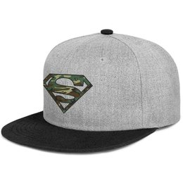 cap superman gold Promo Codes - Fitted Men Women Trucker hats Camo Superman Logo S Shield flat Brim Hip Hop Snapbacks cap Vintage mens hat styles