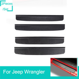 accessories for jeep Coupons - 2Door Sill Entry Guards Strips For Jeep Wrangler JL 2018 Factory Outlet High Quatlity Auto Internal Accessories