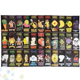 Caixa frontal on-line-3D Dank Vapes Cartucho Nova Caixa Preta Lado Janela Janela Da Frente Pacote Sabores cartuchos vape tanque Saco e Pacotes de cigarro